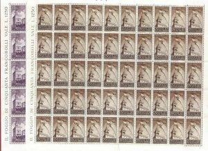 1945 San Marino, N° 278 +A49 Palazzo Del Government MNH /Sheet