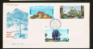 NEPAL - Scott 270-272 - FVF FDC - Mountain Climbing - 1973