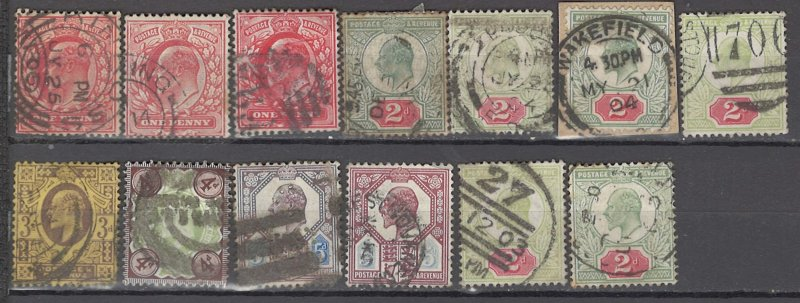 COLLECTION LOT OF #1048 GREAT BRITAIN 13 STAMPS 1902+ CLEARANCE CV+$238
