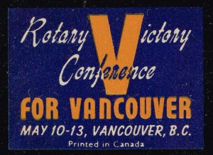 CANADA STAMP ROTARY VICTORY CONFERENCE CANADA POSTER STAMP