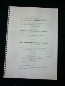 4 CIRCULAR DELIVERY STAMPS ARTICLES by ROBSON LOWE WILLIAMS PATTON & MELVILLE