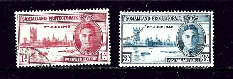 Somaliland 108-09 Used 1946 Peace Issue