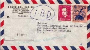 Venezuela, Airmail, Registered