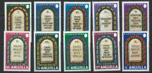 Anguilla Scott 526-536 MNH! Complete Set!