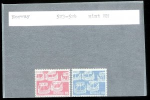 NORWAY Sc#523-524 MINT NEVER HINGED Complete Set