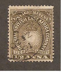 Br. East Africa  Scott #14b  Used  Scott CV $8.50