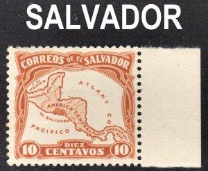 El Salvador Scott 500a ATLANT  CO  ERROR F to VF mint OG H.