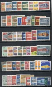 EUROPA Complete 1969 set, common design issues, 51 diff, og, NH, VF Scott $94.40