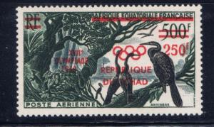 Chad C1 NH 1960 Olympics overprint