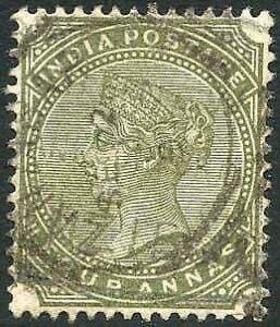 Zanzibar SGZ69 4a Olive-green Z5 Squared Circle dated Sept 1891