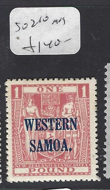 SAMOA (P0310B)  OVPT ON ARMS NZ L1  SG 210   MOG