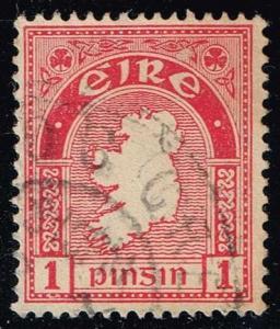Ireland #107 Map of Ireland; Used (1.40)