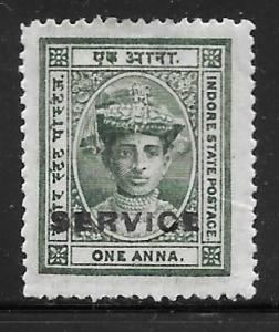 India Indore O2: 1a Maharaja Tukoji Holkar III, MHR, F-VF