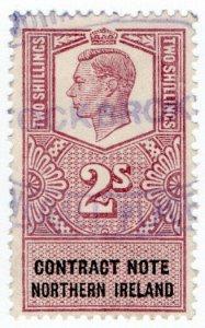 (I.B) George VI Revenue : Contract Note (Northern Ireland) 2/-