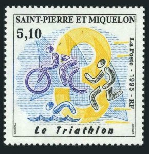 St Pierre & Miquelon 611,MNH.Michel 688. Triathlon 1995.