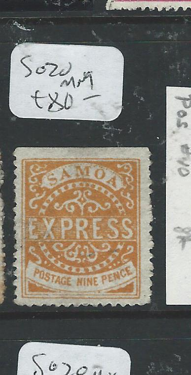 SAMOA (P1306B) EXPRESS ALL CHECKED BY LATE JACK HUGHES 9D   SG20 MNG