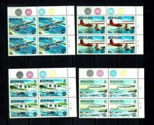 Bermuda: 1983, Bicentenary of Manned Flight  in plate blocks of 4,  Mint