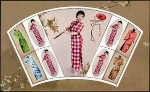 HERRICKSTAMP NEW ISSUES TONGA Sc.# 1324e Cheongsam Fashion Large Size S/S #2