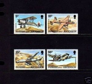 ASCENSION - 1982 - AIRCRAFT - WIDEAWAKE AIRFIELD - B-25 MITCHELL + MINT MNH SET!
