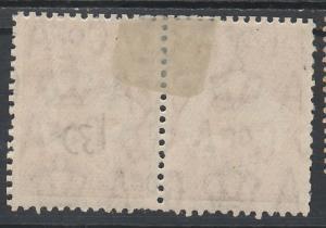 AUSTRALIA 1931 KANGAROO 6D PAIR VARIETY RETOUCHED TOP FRAME & SCRATCH C OF A WMK