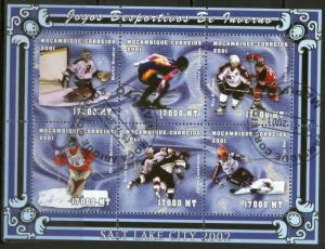 Mozambique Used S/S 1438 Salt Lake City Winter Olympics 2001