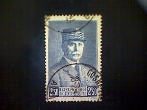 France, Scott #418, used(o), 1941, Marshal Pétain, 2.50frs, deep blue