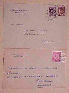 BELGIUM  PORTUGAL  2 DIFF. CONSUL 1949