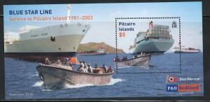 Pitcairn Islands 571 MNH! Ship Blue Star Line!