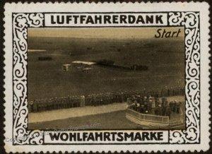 Germany WWI Air Force Memorial Luftfahrerdank Flight MNH  Cinderella Sta G102834
