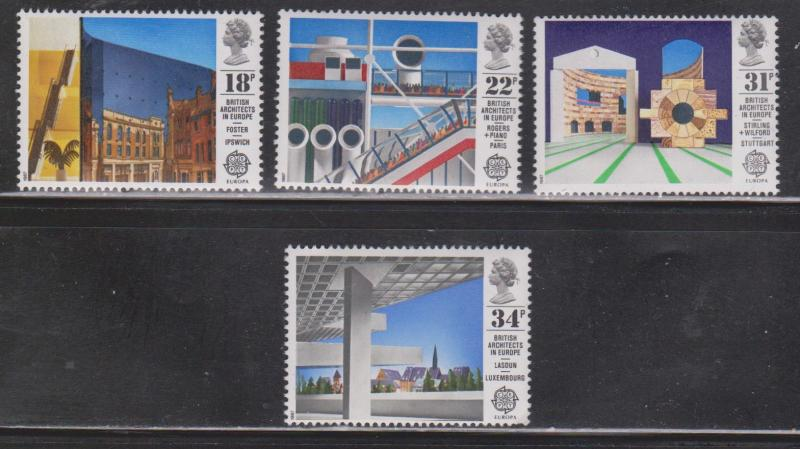 Great Britain Scott # 1176-9 Mint Never Hinged - Modern Architecture Europa 1987