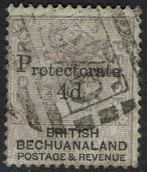 BECHUANALAND 1888 QV PROTECTORATE 4D ON 4D USED