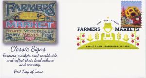 SC 4915, 2014 Farmers Market, Cut Flowers Digital Color Postmark , FDC