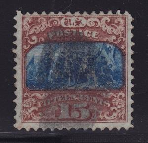 119 F-VF neat bold cancel with nice color cv $ 250 ! see pic !