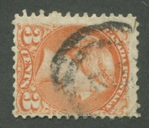 CANADA #37 USED SMALL QUEEN 2-RING NUMERAL CANCEL 54