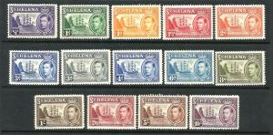 ST HELENA  1938-44  KGVI PICTORIALS  SET 14   MLH  SG 131/40