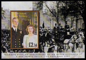 British Indian Ocean Territory Sc# 330 MNH Diamond Wedding Anniversary (S/S)
