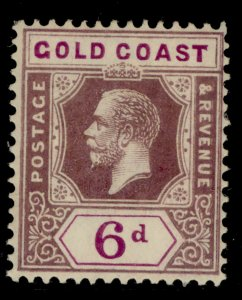 GOLD COAST GV SG94, 6d dull and bright purple, LH MINT.
