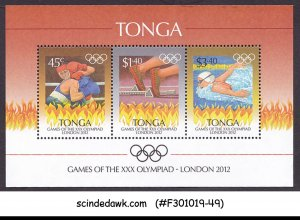 TONGA - 2012 30th OLYMPIC GAMES LONDON 2012 - MIN. SHEET MNH