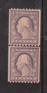 USA #489 VF/NH Line Pair  **With Graded Certificate**