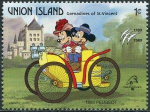 St. Vincent and the Grenadines 1989. Historic car. Peugeot (1893) (MNH OG) Stamp