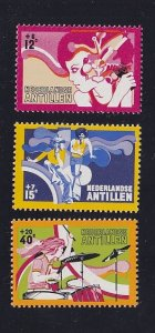 Netherlands Antilles   #B128-B130  MNH  1974    social welfare  young people