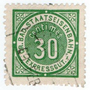 (I.B) Germany Railway : Baden Staatseisenbahnen 30c (Express Goods)