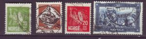 J18383 JLstamps 1930 norway used set #150-3 designs