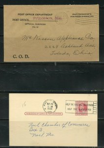 US POSTAL HISTORY OF STATE OF MISSOURI LOT OF 24 COVERS 184-1960 AS SHOWN