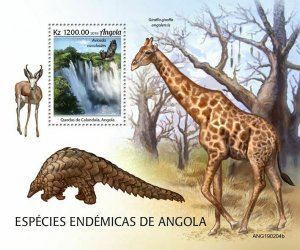 Z08 IMPERF ANG190204b Angola 2019 Endemic animals MNH ** Postfrisch