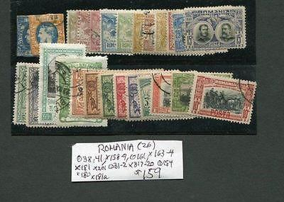 Card Of Older Romania Mint/Used 38,41,158-9,161,163-4 etc...