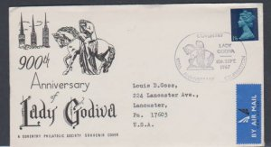 GREAT BRITAIN FDC- LADY GODIVA 900th ANNIVERSARY STAMP USED  LOT#154
