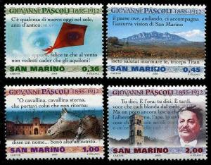 HERRICKSTAMP SAN MARINO Sc.# 1653-56 Poetry Set of 4 Mint NH Stamps
