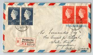 Surinam 1948 Airmail Cover to British Guiana - Z13564
