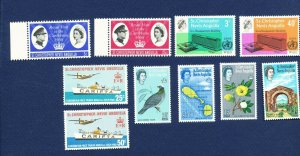 SAINT KITTS & NEVIS - 148//189  VFMNH issues from 1963-1968